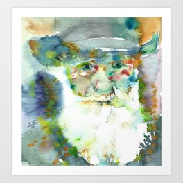 CHARLES DARWIN - watercolor portrait Art Print