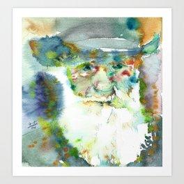 CHARLES DARWIN - watercolor portrait Art Print
