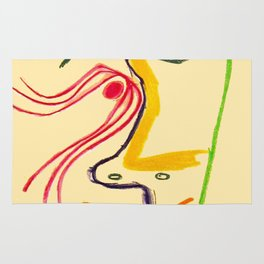 Hommage A Rene Char Vintage Picasso Exhibit Poster Print Rug