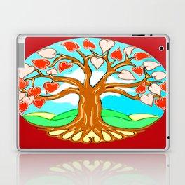 Heart Tree of Life Mandala Red Laptop & iPad Skin