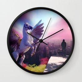 Pegasus in the city Wall Clock