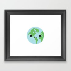 Happy Earth Framed Art Print