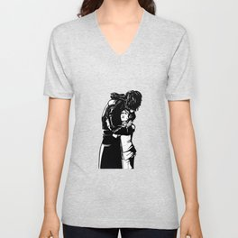 DISHONORED- Stronger When You Hold Her Unisex V-Neck