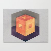 pixel Canvas Prints featuring Pixel by Camilo Bejarano