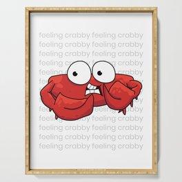Feeling Crabby Serving Tray