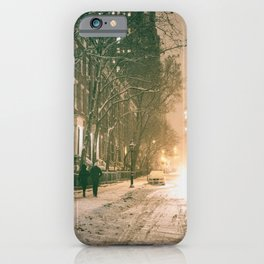 Winter - New York City - Snows Falls - Washington Square iPhone Case