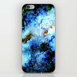 Cool Blue Galaxy iPhone Skin