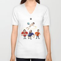 gaming V-neck T-shirts featuring Inside Gaming  by Haizeel Hashnan