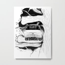 Harry, Ron and their first car ride Metal Print