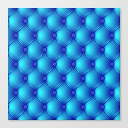Blue Upholstery Pattern Canvas Print