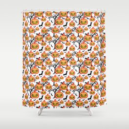 Pumpkinhead Pattern Shower Curtain