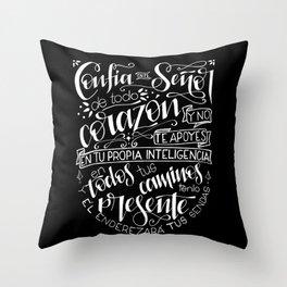 Confia en el Señor - blanco Throw Pillow