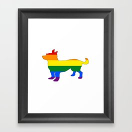 Rainbow Chihuahua Framed Art Print