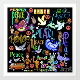 Peace Tweety Art Print