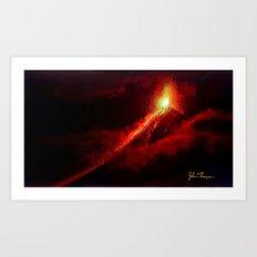 Fuego Volcano Art Print