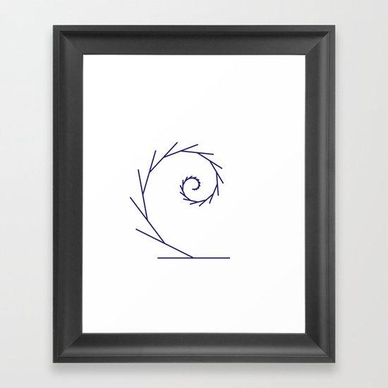 #323 Tendril – Geometry Daily Framed Art Print