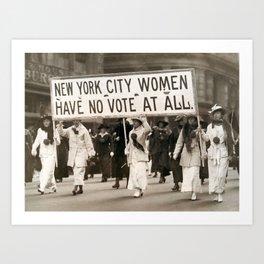 Vintage Photo - Suffragette 1# Art Print