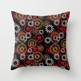 For the Love of Gears Throw Pillow