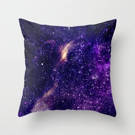Ultra violet purple abstract galaxy Throw Pillow