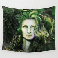 ireland Wall Tapestries featuring Ireland by Holly Carton