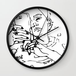 Browsing the internet Wall Clock