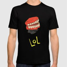 lol Black MEDIUM Mens Fitted Tee