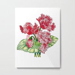 Wave of Florals  Metal Print