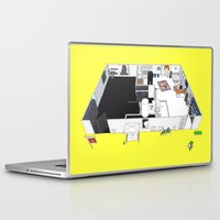 dark side Laptop & iPad Skins featuring DARK SIDE IS VACANCY by kasi minami