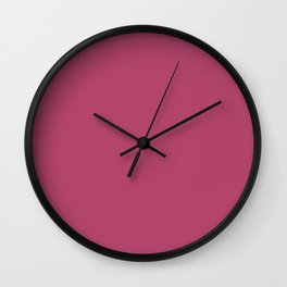 Raspberry rose - solid color Wall Clock