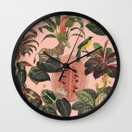 Pink Jungla Wall Clock