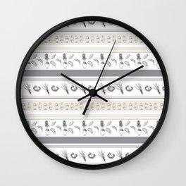 Lineal Bunnies Wall Clock