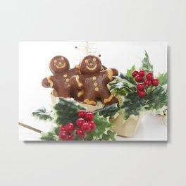 Gingerbread men 01 Metal Print