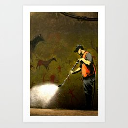 Banksy - Removing Historys Art Art Print