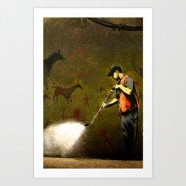 Banksy - Removing Historys Art Art Print
