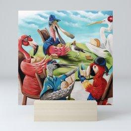 Tropical Birds Scarlet Macaw play cards Mini Art Print