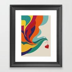 Love Message Framed Art Print