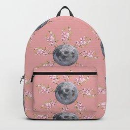 Floral Moon Pink Backpack