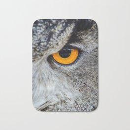 NIGHT OWL - EYE - CLOSE UP PHOTOGRAPHY - ANIMALS - NATURE Bath Mat