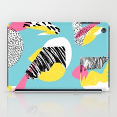 Modern living with lagoon view iPad Case