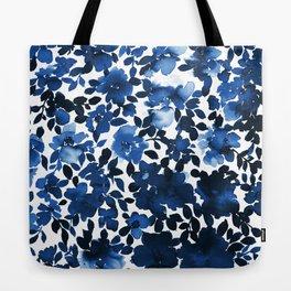 Sophia Floral Blue Tote Bag