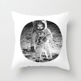 Lola as Astronaut 2 Throw Pillow