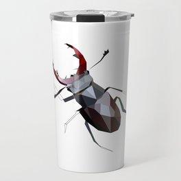 Stag beetle geometric artwork Travel Mug
