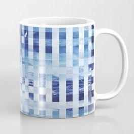 Nautical pixel abstract pattern Coffee Mug