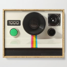 Retro 80's objects - Instant Camera Serving Tray