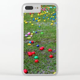 Easter Egg Hunt Clear iPhone Case