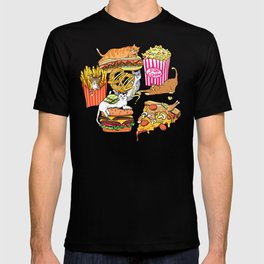 Cats & Junk Food T-shirt