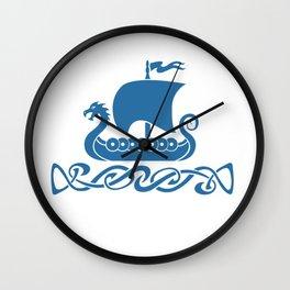 Drgon Boat - Blue Wall Clock