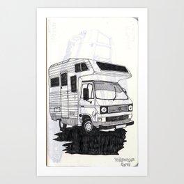 Sketch minivan Art Print