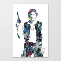 han solo Canvas Prints featuring Han Solo by NKlein Design