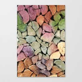 colorful wood Canvas Print